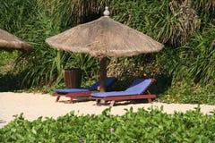 Stuhl auf Strand Lizenzfreies Stockfoto