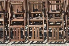 Stuhl-Aufbau Stockfotos