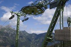 Stuhl-Aufzug-Rad Lizenzfreie Stockfotos