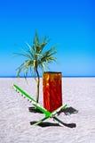Stuhl für das Ein Sonnenbad nehmen Lizenzfreie Stockfotos