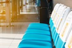 Stuhl für Passagier im Flughafen Lizenzfreies Stockfoto