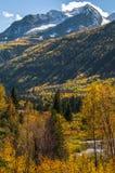 Stuhl-Gebirgselch-Gebirgszug Gunnison County Stockfoto