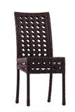 Stuhl gemacht vom künstlichen Rattan Stockfotografie
