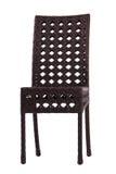 Stuhl gemacht vom künstlichen Rattan Lizenzfreie Stockfotografie