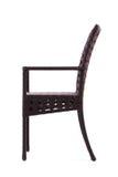 Stuhl gemacht vom künstlichen Rattan Lizenzfreie Stockbilder