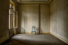 Stuhl im Esszimmer des Hotels Stockfotografie