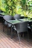 Stuhl im Garten Stockbilder