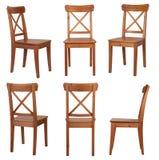 Stuhl lokalisiert auf weißem Hintergrund Stockbilder