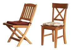 Stuhl lokalisiert auf weißem Hintergrund Stockfotografie