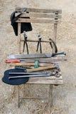 Stuhl mit Hilfsmitteln Lizenzfreies Stockfoto