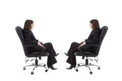 Stuhl mit Spiegelbild Stockfotografie