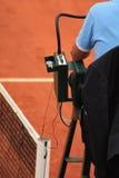 Stuhl-Schiedsrichter bei Roland Garros 2011 Stockbild