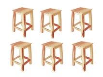 Stuhl sechs Lizenzfreie Stockbilder