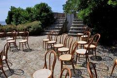 Stuhl-Sitzung Stockbild