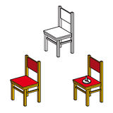 Stuhl-und Büro Druckbolzen Stockbilder
