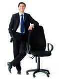 Stuhl und Mann für Geschäft stockfotografie