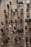 Stuhl und Musikinstrument Lizenzfreie Stockfotos