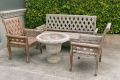 Stuhl und Tabelle Stockfotografie
