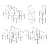 Stuhlillustrations-Entwurfssatz Lizenzfreie Abbildung