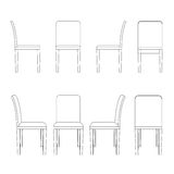 Stuhlillustrationsentwurf Vektor Abbildung