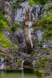 Stuiben vattenfall nära Reutte, Tirol, Österrike Royaltyfria Bilder
