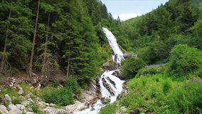 Stuiben waterfall in tyrol stock footage