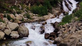 Stuiben waterfall in tyrol stock video