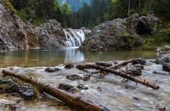 Stuiben waterfall. S near Reutte, Tyrol, Austria Stock Image