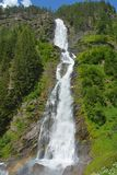 Stuibenfall在Otztal,奥地利是最长的瀑布(159 m)在提洛尔 库存照片