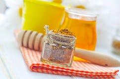 Stuifmeel en honing Stock Foto