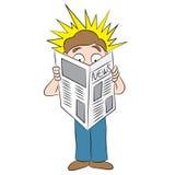 Stuitende Krantekop in Krantenbeeldverhaal Royalty-vrije Stock Afbeeldingen