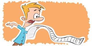 Stuitende mens met lange rekening vector illustratie