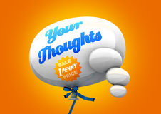 Stuiver voor Uw Gedachten stock illustratie