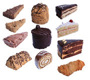 Stuk Cakes Royalty-vrije Stock Afbeeldingen
