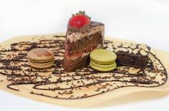 Stuk chocoladecakes Stock Foto's