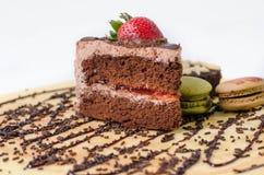 Stuk chocoladecakes Stock Fotografie