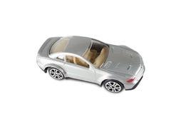 Stuk speelgoed auto op een witte achtergrond wordt geïsoleerd die Royalty-vrije Stock Foto