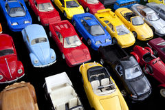 Stuk speelgoed auto's Royalty-vrije Stock Afbeeldingen