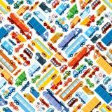 Stuk speelgoed autopatroon Stock Foto's