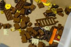 Stuk speelgoed bakstenen stock fotografie