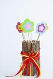 Stuk speelgoed bloemen Stock Foto's