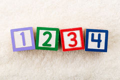 1234 stuk speelgoed blok Stock Fotografie