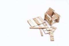 Stuk speelgoed blokhuis Stock Afbeeldingen