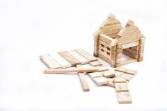 Stuk speelgoed blokhuis Royalty-vrije Stock Afbeeldingen