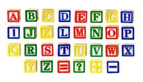 Stuk speelgoed brieven royalty-vrije stock afbeelding