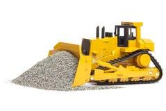 Stuk speelgoed bulldozer Royalty-vrije Stock Foto
