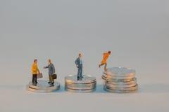 Stuk speelgoed concept geld Stock Afbeeldingen