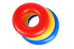 Stuk speelgoed dat Ringen stapelt stock afbeeldingen