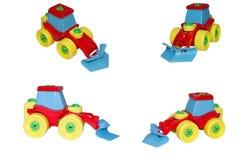 Stuk speelgoed, de bulldozer voor sneeuw het schoonmaken. Royalty-vrije Stock Foto's