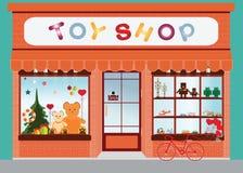 Stuk speelgoed de vertoning van het winkelvenster Stock Fotografie